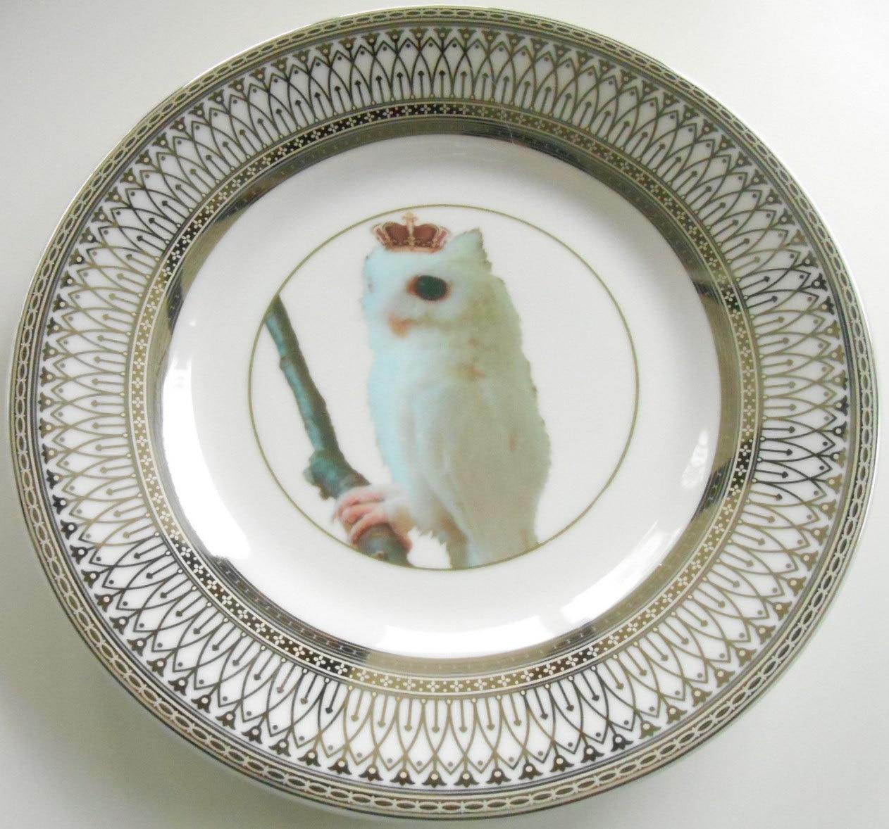 🔎zoom & Silver Owl Bird Dinnerware Plates Owl Dishes Bird Plate Owl