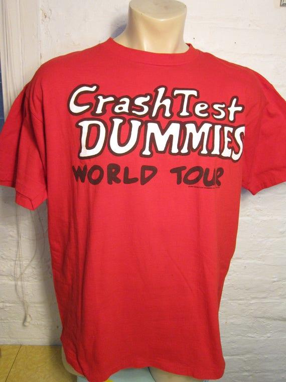 Size XL (50) ** 1994 Crash Test Dummies Concert Shirt (Single Sided) PAAkR05S