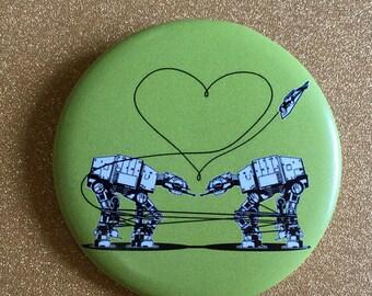 Green AT-AT Love 2.25 Inch Magnet - Star Wars Magnet, Fridge Magnet, Refrigerator Magnets, Star Wars Gift, Star Wars Party
