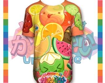 Kawaii Universe - Cute Classic Fruits Group Designer Tee Unisex Shirt