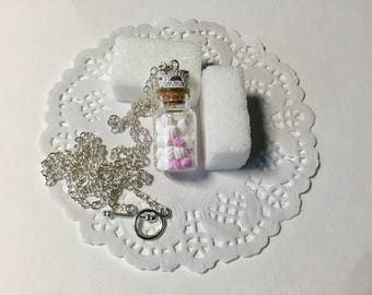 Necklace fimo whipped cream