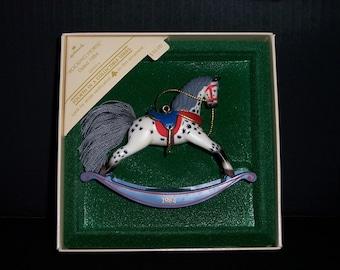 Rocky Horse Tree Ornament, Vintage 1984 Rocky Horse Hallmark Collectible Ornament