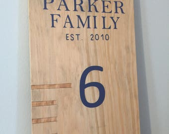 Rustic Family Growth Chart Ruler, Personalized Kids Growth Chart, Wooden Ruler Chart, Growth Chart, Kids Ruler, Height Chart