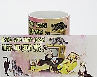 Cat mug, Cat Saying Mug, Cat Lovers Gift, Personalised Mug