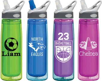 Sports Team Decals for Personalized Water Bottles or Car Windows