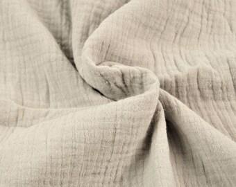 Double cotton gauze / grey mouse / cut 25cm