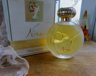 Vintage Perfume NINA  Eau De Toilette, Nina Ricci Perfume, Scent 100 ml 3.3 fl oz 1980s Fragrance, Rare large bottle, Beautiful Perfume