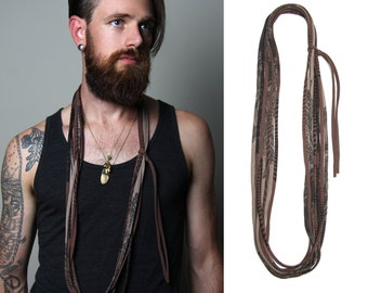 Mens Necklace, Mens Jewelry, Necklace for Men, Mens Gift, Boyfriend Gift, Boyfriend, Mens Scarf, Gift for Men, Gift for Boyfriend, Mens