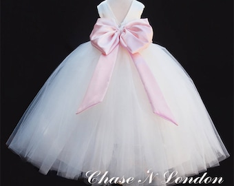 Girl's Tulle Flower Girl Dress