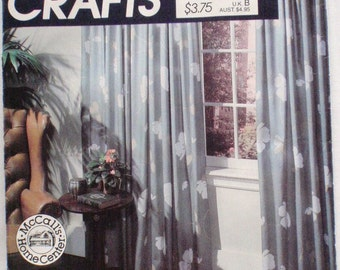 McCall's 721, McCall's 8918 - Instruction Booklet for Window Treatments - Draperies, Curtains, Roll-up Shades, Roman Shades, Balloon Shades