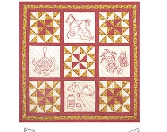 Redwork embroidery  - Toy Box Treasures quilt pattern