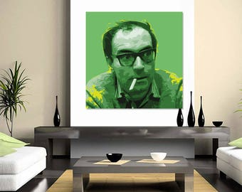 Jean luc Godard Pop Art - giclee on  canvas