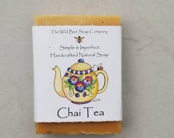 Chai Tea Soap, Tea Soap, Soap, Bar Soap, Natural Soap, Handcrafted Soap, Vegan Soap, Lemon, Litsea, Skincare, Bar Soap
