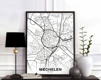 Belgium map Etsy