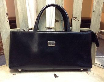 Gianfranco Ferre Black Patent Leather Shoulder bag/Satchel