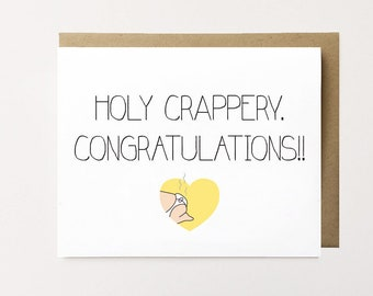 New baby card, Funny new baby card, Funny baby congrats card, Baby congrats card, New mom card, Stinky diaper card Baby congratulations card