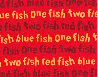 Dr Seuss Red One Fish Two Fish Red Fish Blue Fish from Robert Kaufman