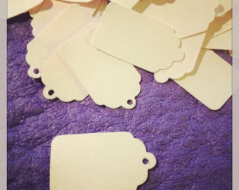 60 Mini Manila Cardstock Tags