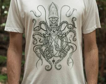 Male Fair Wear and Organic T-Shirt - Squid