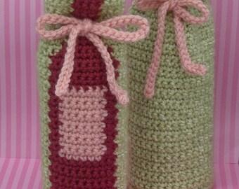 Wine Bottle Gift Bag PATTERN - INSTANT DOWNLOAD