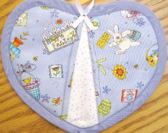 Happy Easter Potholders - Set of 2