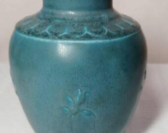 Rookwood Pottery, Speckled Matte Blue, Arts & Crafts Design, Grecian Urn Vase~~~