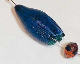 Bodacious blue pod bead from the BLONDIE FUND