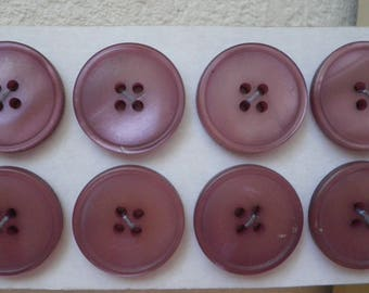 6 buttons purple diam 2,5 cm new ref L20