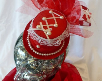 Valentine's Day Mini Top Hat Headband
