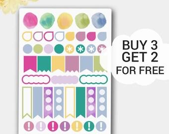 Page Flag Stickers, Erin Condren Planner Stickers, Functional  Stickers, Flags, Flag Planner Sticker,Pastel Flags