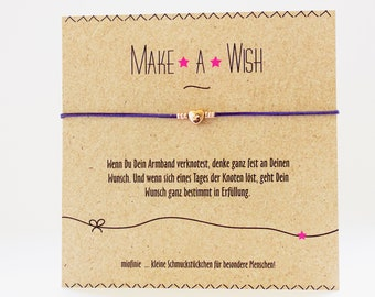 Lucky Bracelet * Make a wish * with a heart