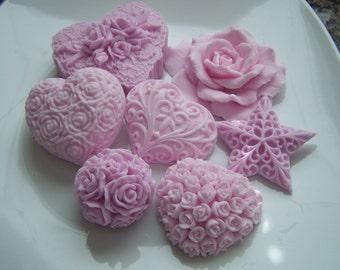 Pink Hearts and Roses Baby Bridal Shower Soap Doodaba