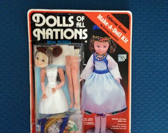 Make-A-Doll Kit, Dolls of All Nations, Russia-FreeUS Shipping