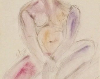 """Silverpoint drawing on pastel board: """"In Repose"""""""
