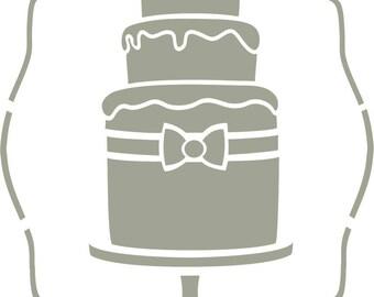 Stencil, Small cake cake