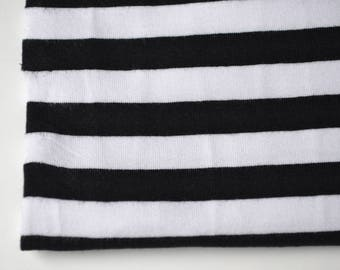 Fabric Jersey black and white tape | Per Metre