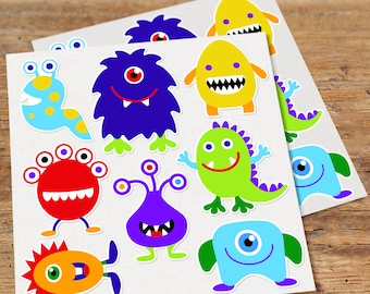 Wall Decals, Monster, Decals, Kids Room Decor, Wall Art, Bedroom Decor, Kids Wall Decal, Nursery Wall Decal, Colorful, Playroom Decal
