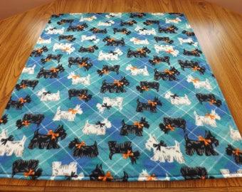 Dog Blanket, Medium, Scotties