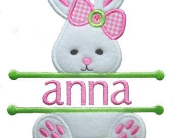 Easter Bunny Applique, Split Easter Applique, Easter Embroidery, Girl Bunny Applique, Machine Embroidery Design, Instant Download