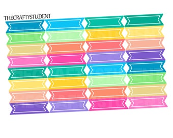 Horizontal Double Flags Sheet, Functional Stickers