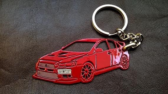 Mitsubishi Evo X Fathers Day Gift Mitsubishi Keychain