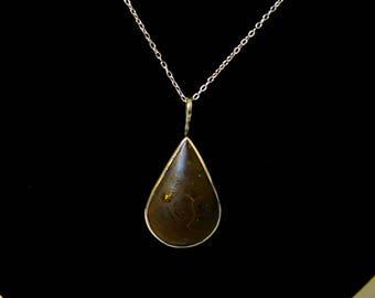 Winton boulder opal pendant