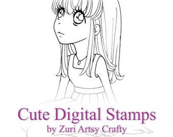 Digital Stamp, Valerie, Scrapbooking Digital Stamp, Instant Download, Zuri Artsy Craftsy, Digi Stamp, Cardmaking, coloring page
