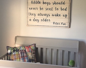 Peter Pan little boys should never be sent to bed Slatted Wall Decor