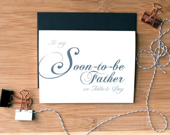 To My Soon To Be Father On Father's Day Card | Fathers Day Card | Fathers Day Card for In Law | Card for Fiance's Father | Card for In Law