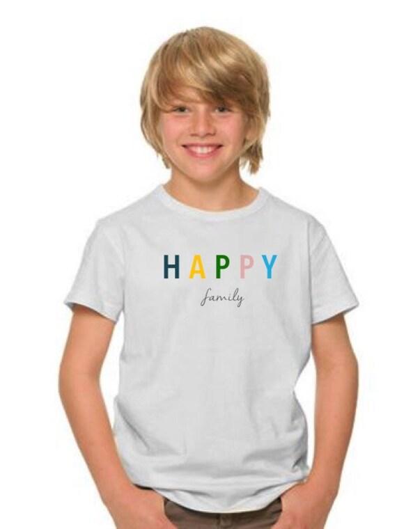 Boy t-shirt or body HAPPY FAMILY