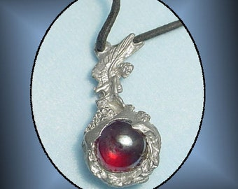 Fairy with Marble Orb 1990s Pendant Cord Fantasy Necklace