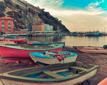Sorrento Photography Italy Photography, Amalfi Coast, Boats, Wall Art, Large Wall Art, Home Decor, Italy, Fine Art Photography, Travel Photo
