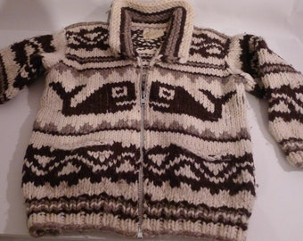 Vintage Cowichan Hand Knitted Sweater