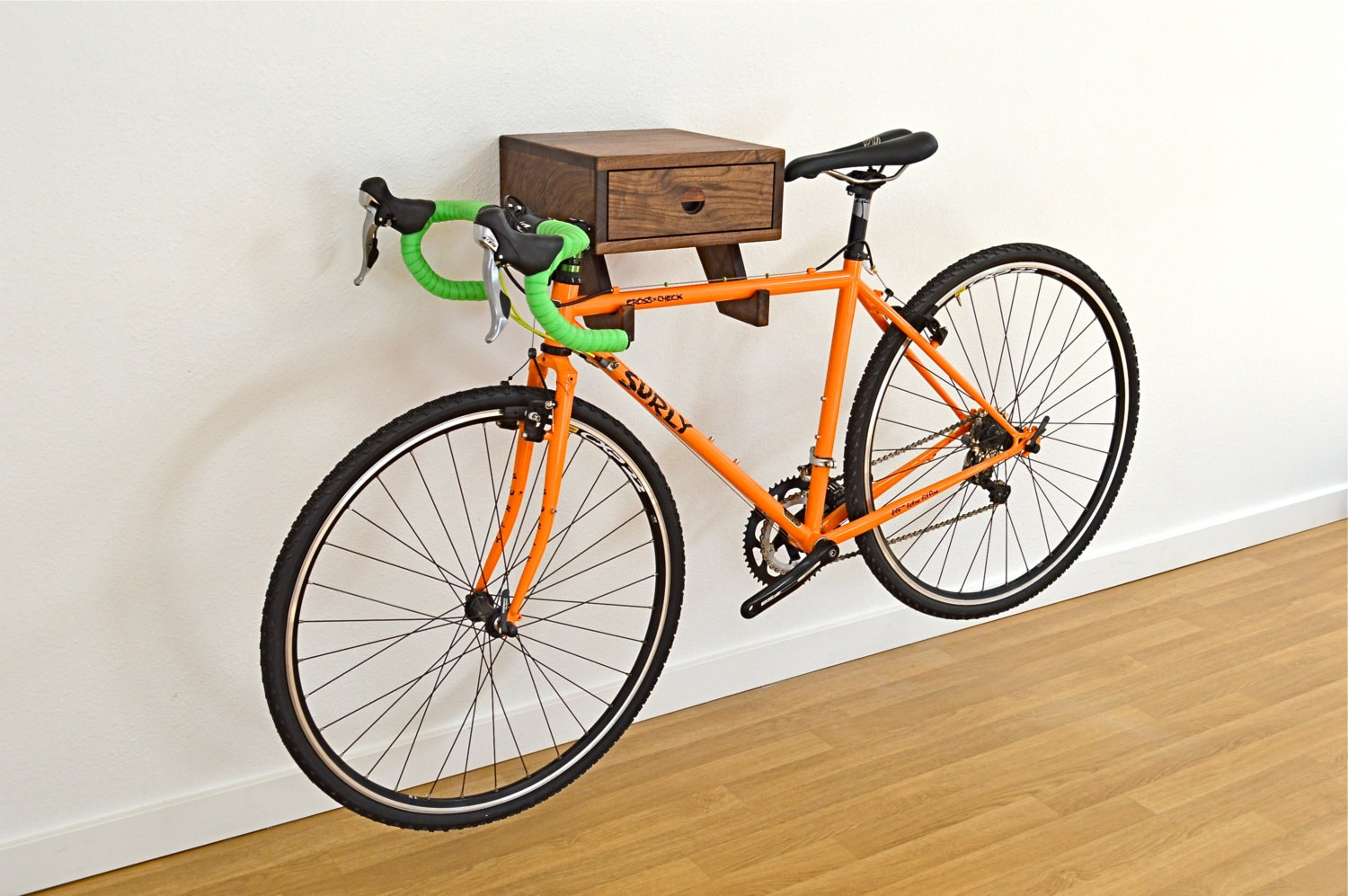 The Clifton Bike Rack Stylish wall mount indoor bike shelf